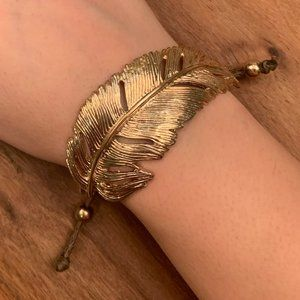 ALDO Gold Leaf Adjustable Bracelet